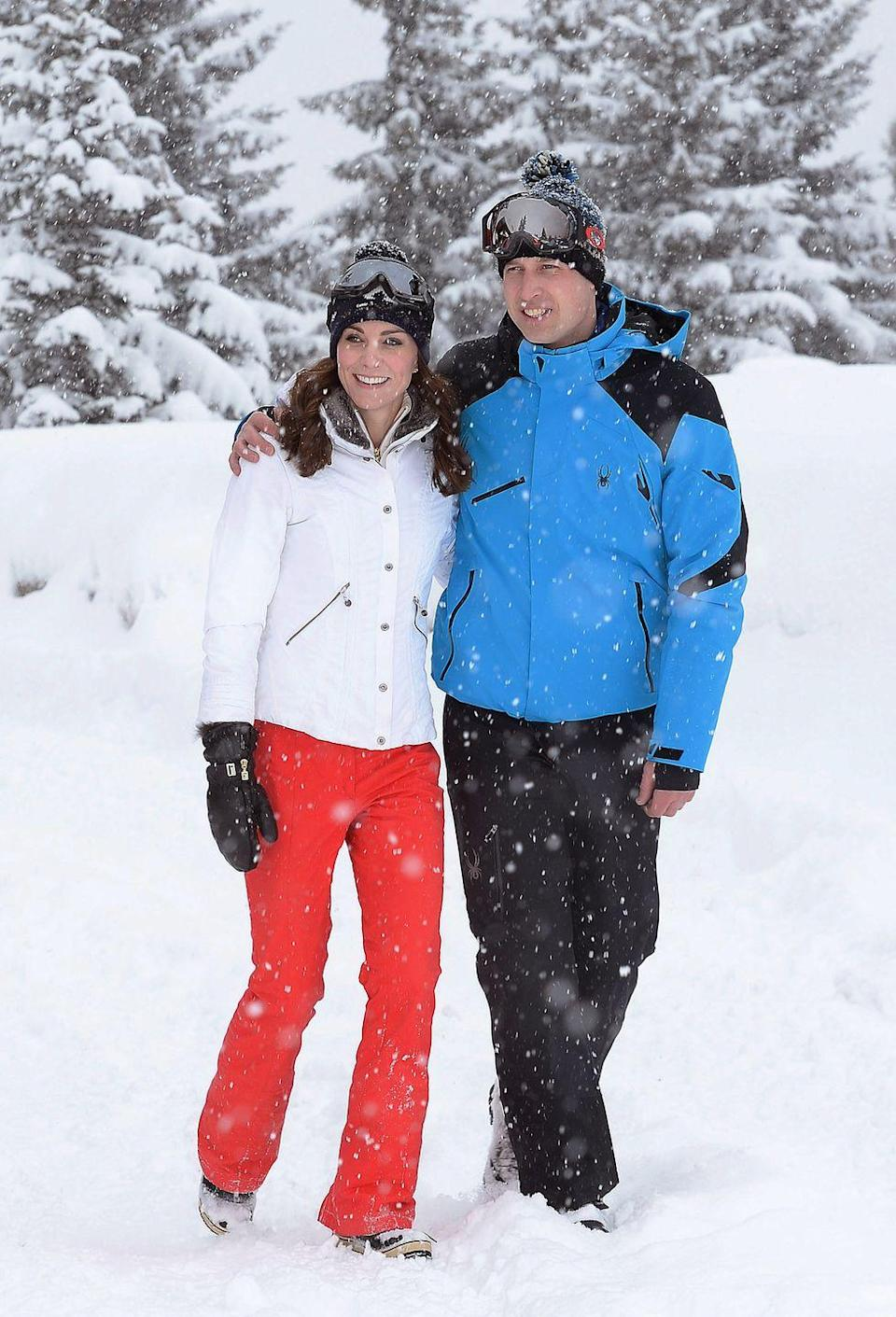<p>Kate and Prince William enjoyed a private ski getaway in the French Alps. The pair looked polished and athletic in their wintery outfits. </p>