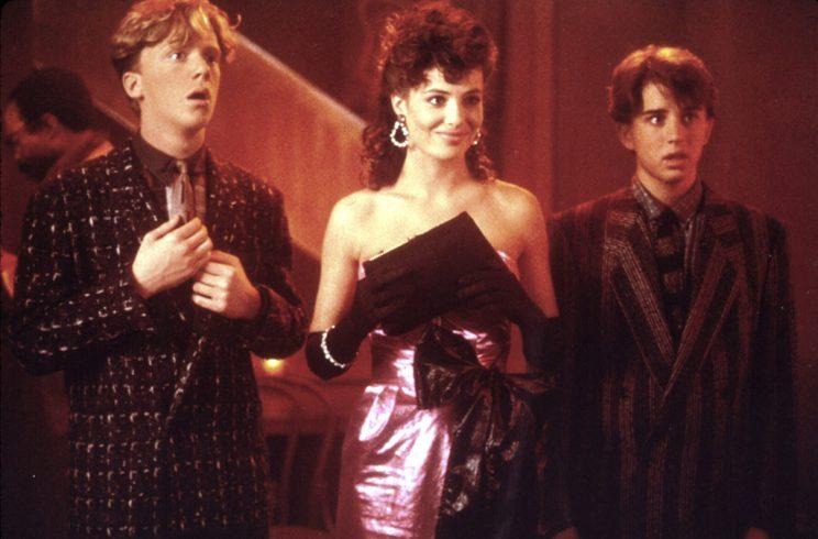 WEIRD SCIENCE, Anthony Michael Hall, Kelly LeBrock, Ilan Mitchell-Smith, 1985
