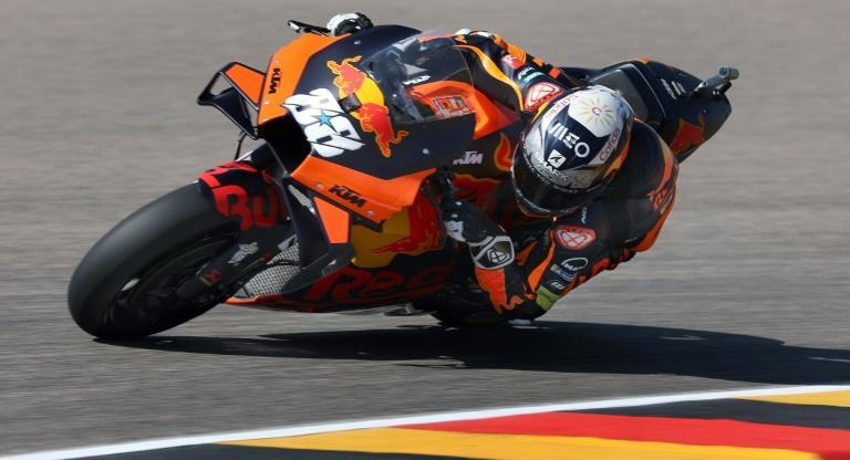 'It was a good day': Miguel Oliveira topped the practise times for the German MotoGP