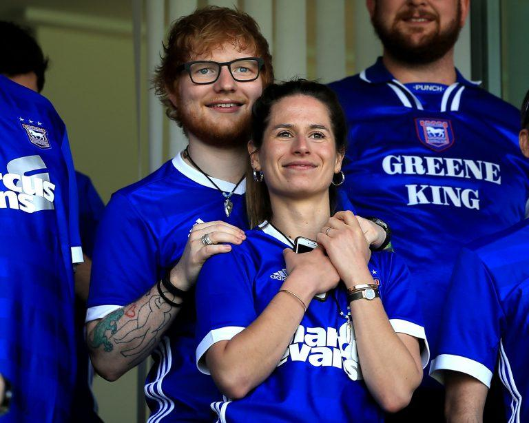 Musician Ed Sheeran and fiance Cherry Seaborn