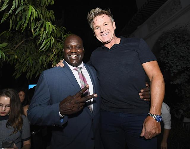Shaquille O'Neal and celebrity chef Gordon Ramsay (Photo: Emma McIntyre/Getty Images for Apple)