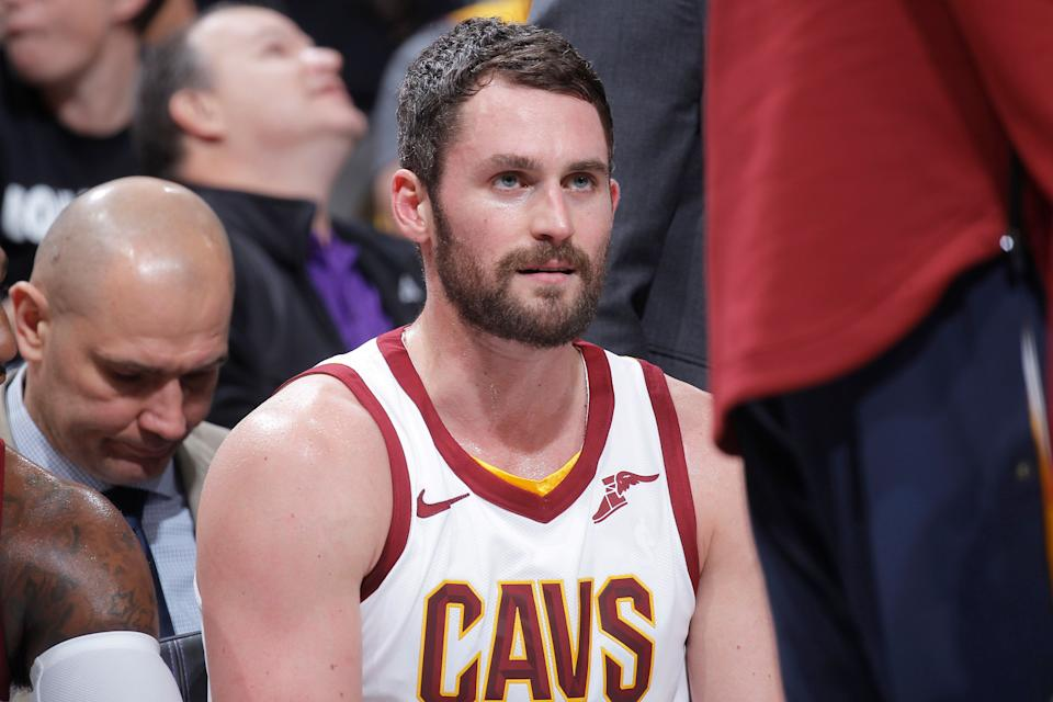Kevin Love of the Cleveland Cavaliers wrote of his first panic attack in the middle of a basketball game -- and how the episode changedthe way he views mental health. (Photo: Rocky Widner via Getty Images)
