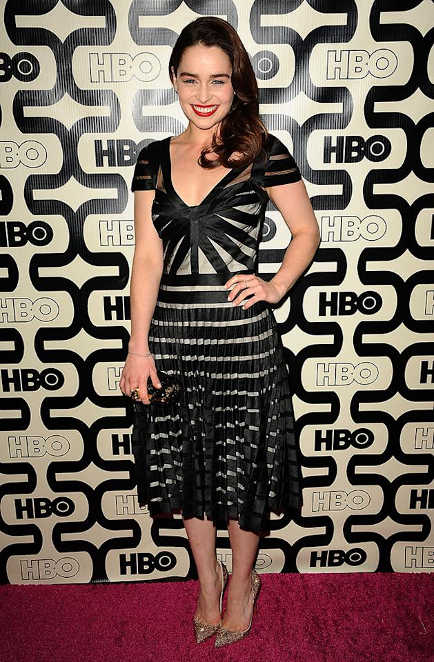 Emilia Clarke attends the HBO after party at the 70th annual Golden Globe Awards at Circa 55 restaurant at the Beverly Hilton Hotel on January 13, 2013 in Los Angeles, California.