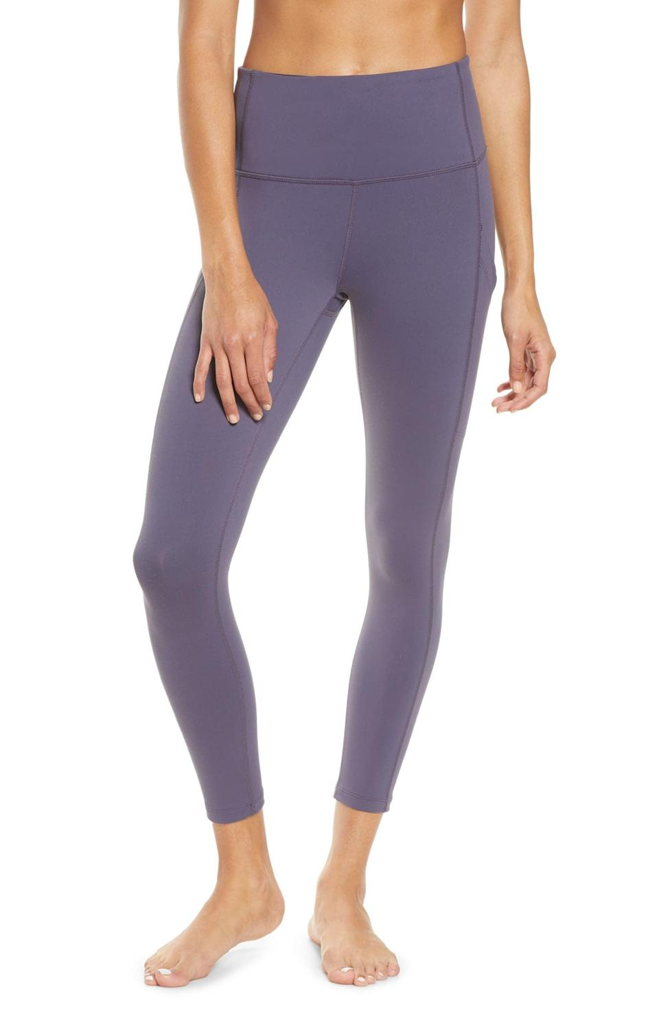 <p>They're called the live in leggings for a reason. These <span>Zella Live In High Waist Pocket 7/8 Leggings</span> ($59) are a cult-classic.</p>