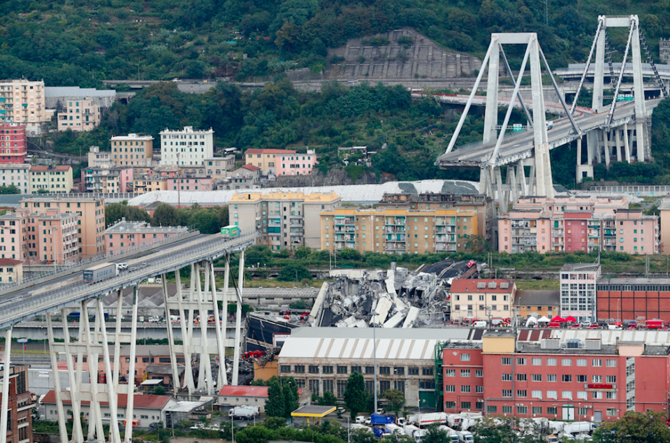 <em>The bridge collapse in Genoa resulted in the deaths of at least 35 people (AP)</em>