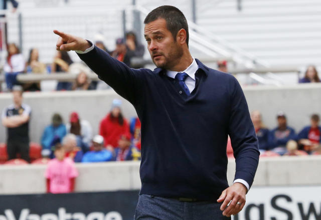 Former RLS coach Mike Petke is suing the team for an alleged breach of his contract. (AP Photo)