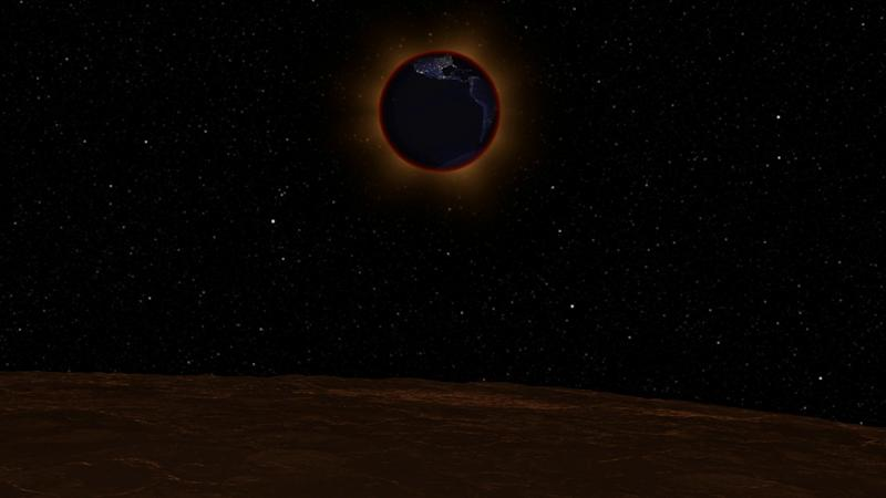 NASA-Lunar-Eclipse-from-Moon