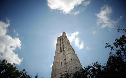 The Gothic tower is all that remains of the former church of Saint-Jacques-la-Boucherie - Credit: MARTIN BUREAU/AFP/Getty Images