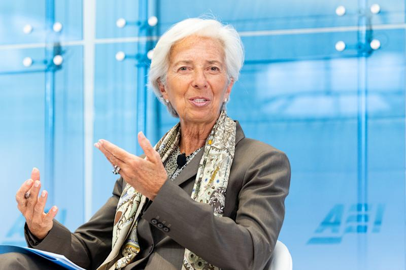 WASHINGTON, DC, UNITED STATES - 2019/06/05: International Monetary Fund Managing Director Christine Lagarde speaks at the American Enterprise Institute in Washington, DC. (Photo by Michael Brochstein/SOPA Images/LightRocket via Getty Images)