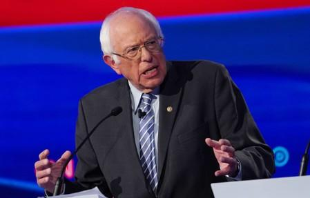 Democratic presidential candidate Senator Bernie Sanders speaks during the fourth U.S. Democratic presidential candidates 2020 election debate at Otterbein University in Westerville, Ohio U.S.