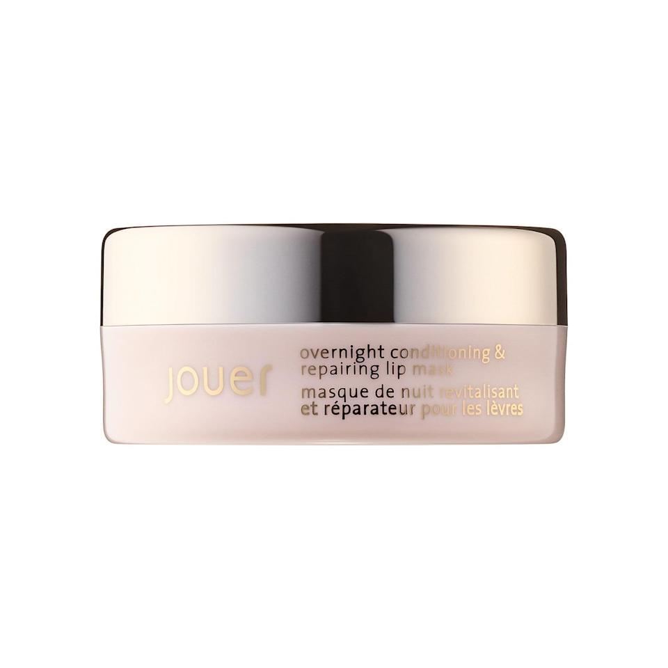 <p>You can't neglect your lips, especially in the Winter. We're swooning over this new <span>Jouer Cosmetics Overnight Conditioning &amp; Repairing Lip Mask</span> ($20).</p>