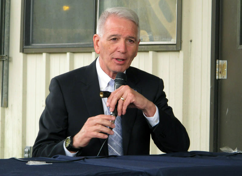 FILE - In this March 18, 2019 file photo, U.S. Rep. Ralph Abraham speaks at a business event in Baton Rouge, La. Louisiana's Democratic governor, John Bel Edwards, moved quickly to expand Medicaid when he took office in 2016. His state is the only one in the Deep South to embrace that signature piece of Barack Obama's health law. And the Medicaid expansion program isn't going anywhere even if Edwards is ousted by a Republican in this fall's election. Instead, his two main opponents Abraham and Eddie Rispone are attacking Edwards' hallmark achievement on management, not the program's existence. (AP Photo/Melinda Deslatte, File)