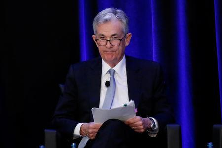 U.S. Federal Reserve Chairman Jerome Powell speaks at the American Economic Association/Allied Social Science Association (ASSA) 2019 meeting in Atlanta, Georgia, U.S., January 4, 2019.  REUTERS/Christopher Aluka Berry