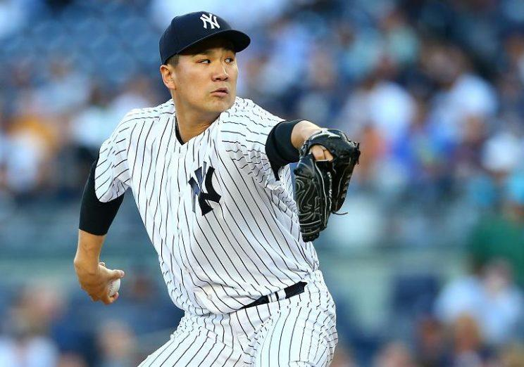 Yankees ace Masahiro Tanaka struck out a career best 13 batters against the A's on Friday night. (AP)