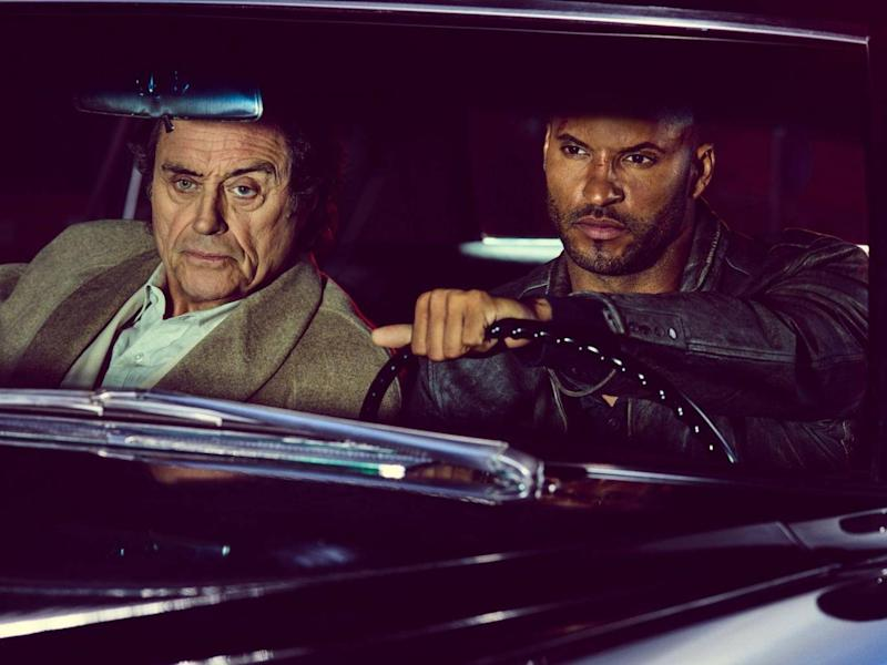 Ian McShane and Ricky Whittle in 'American Gods' (Rex)