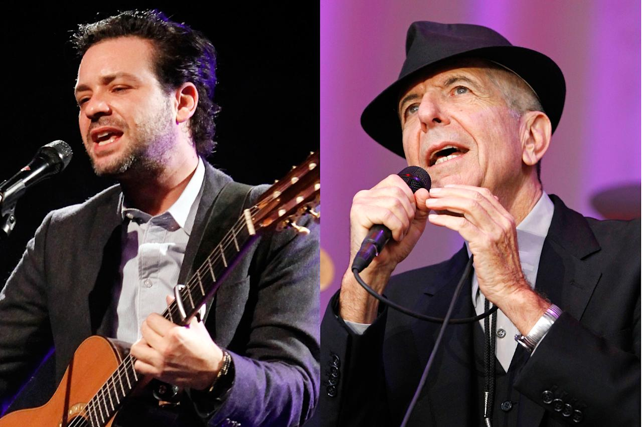 Adam Cohen and Leonard Cohen