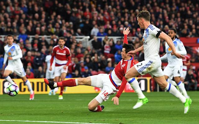 Marten de Roon scores the only goal of the game - Getty Images Europe