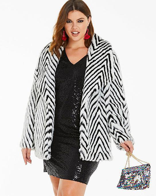 "<p>This geometric print stunner looks fabulous dressed up or down and has super handy side pockets to keep you warm all day and night.<br><strong><a href=""https://go.skimresources.com?id=125078X1586062&xs=1&url=https%3A%2F%2Fwww.simplybe.com%2Fen-us%2Fproducts%2Fmono-print-fur-coat%2Fp%2FTB287%23v%3Dcolor%253ATB287_MONO%257C%20"" rel=""nofollow noopener"" target=""_blank"" data-ylk=""slk:Shop it:"" class=""link rapid-noclick-resp"">Shop it:</a> </strong>Mono Print Faux Fur Coat, $83 (was $158), <a href=""https://go.skimresources.com?id=125078X1586062&xs=1&url=https%3A%2F%2Fwww.simplybe.com%2Fen-us%2Fproducts%2Fmono-print-fur-coat%2Fp%2FTB287%23v%3Dcolor%253ATB287_MONO%257C%20"" rel=""nofollow noopener"" target=""_blank"" data-ylk=""slk:simplybe.com"" class=""link rapid-noclick-resp"">simplybe.com</a> </p>"