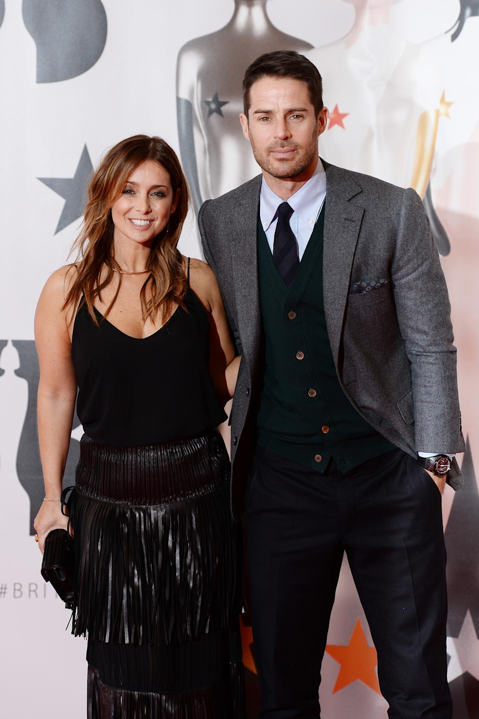 Louise Redknapp and Jamie Redknapp attend the BRIT Awards 2016 at The O2 Arena on February 24, 2016 in London, England.  (Photo by Dave J Hogan/Getty Images)