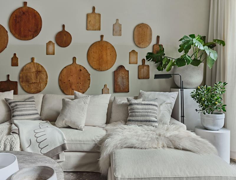 At a loss for how to decorate your walls? Why not try an unexpected collection like breadboards.