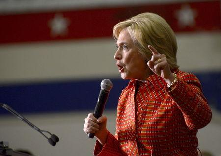 U.S. Democratic Presidential candidate Hillary Clinton speaks at a campaign stop in Reno, Nevada