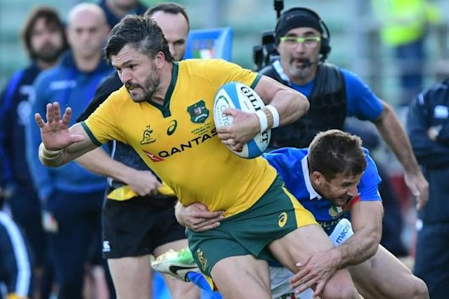 Australian wing Adam Ashley-Cooper is to play in his fourth World Cup (AFP Photo/Miguel MEDINA)