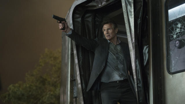 Liam Neeson in <em>The Commuter</em>. (Photo: Lionsgate)