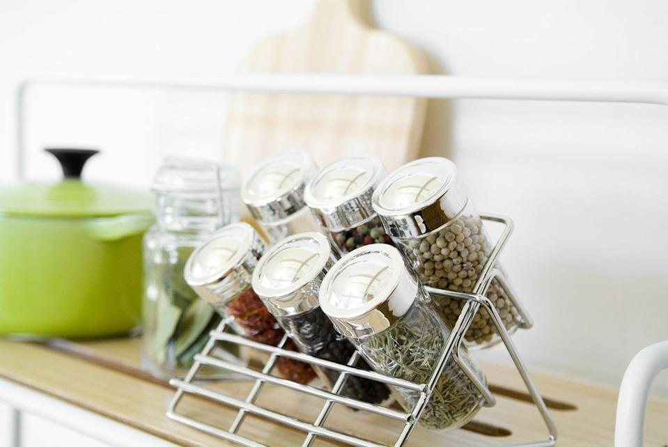 """<p>""""One way is to go A to Z, so everything is alphabetized and easy to find,"""" says Susan Westmoreland, culinary director of the Good Housekeeping Lab. """"Or, if you're more task-oriented like me, group herbs and spices by use. Designate one shelf for baking and include extracts, cinnamon, baking powder, and baking soda. The rest I divvy up by category-one area for seeds and whole spices, another for ground spices and one for dried herbs. Keep labels facing outward."""" This way you know what you're picking up and using.</p>"""