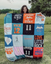 "<p><strong>Project Repat</strong></p><p>projectrepat.com</p><p><strong>$75.00</strong></p><p><a href=""https://www.projectrepat.com/products/project-repat-t-shirt-quilt"" rel=""nofollow noopener"" target=""_blank"" data-ylk=""slk:Shop Now"" class=""link rapid-noclick-resp"">Shop Now</a></p><p>Eighteen years of T-shirts shouldn't be left behind in drawers. Send your grad's favorite shirts to Project Repeat and they'll turn them into a snuggly fleece-backed keepsake blanket.</p>"