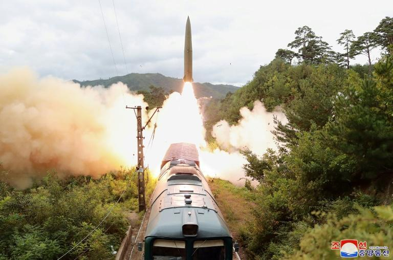 In the space of 48 hours, North Korea fired ballistic missiles, South Korea followed suit and Australia announced the unprecedented purchase of US nuclear-powered submarines (AFP/STR)