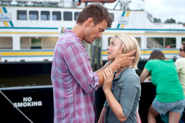 <p>It's a tale as old as time: small-town boy (Josh Duhamel) meets on-the-run girl (Julianne Hough), and they're nudged along the road to romance by the spirit of his dead wife (Cobie Smulders). Sorry, but this relationship doesn't seem to have a ghost of a chance at surviving long term. (Photo: James Bridges/Relativity Media/courtesy Everett Collection) </p>