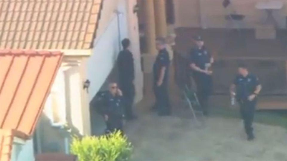 Police raided an alleged slave house on a quiet street in Brisbane's southside. Photo: 7News