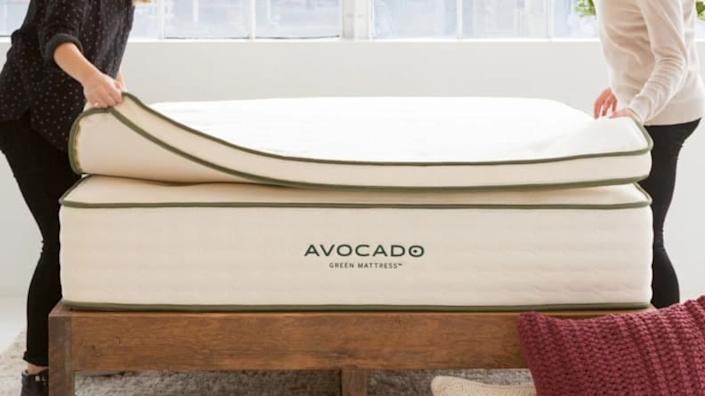 This latex mattress topper lends a bouncy feel to your bed.