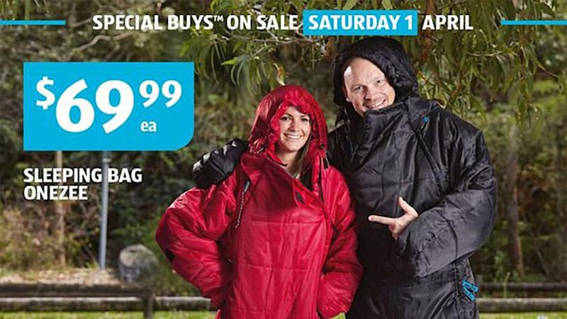 No longer must you be restricted to a conventional sleeveless sleeping bag. Source: Aldi