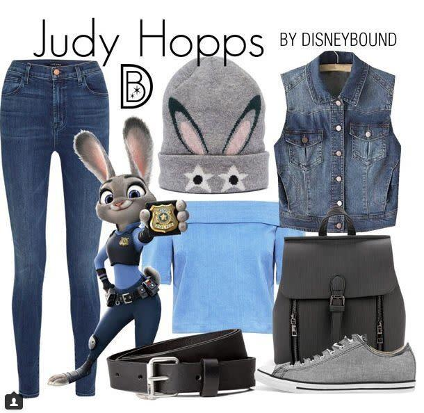 "Here's a look inspired by Judy Hopps from ""Zootopia."""
