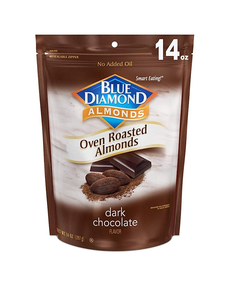 """<p>Just try putting down these <a href=""""https://www.popsugar.com/buy/Blue-Diamond-Almonds-Oven-Roasted-Cocoa-Dusted-Almonds-455574?p_name=Blue%20Diamond%20Almonds%20Oven-Roasted%20Cocoa-Dusted%20Almonds&retailer=amazon.com&pid=455574&price=7&evar1=fit%3Aus&evar9=46234745&evar98=https%3A%2F%2Fwww.popsugar.com%2Ffitness%2Fphoto-gallery%2F46234745%2Fimage%2F46234746%2FBlue-Diamond-Almonds-Oven-Roasted-Cocoa-Dusted-Almonds&list1=shopping%2Camazon%2Cchocolate%2Cdessert%2Ctreats%2Clow-carb&prop13=mobile&pdata=1"""" rel=""""nofollow"""" data-shoppable-link=""""1"""" target=""""_blank"""" class=""""ga-track"""" data-ga-category=""""Related"""" data-ga-label=""""https://www.amazon.com/Blue-Diamond-Almonds-Roasted-Dusted/dp/B018FS1AUC/ref=sr_1_37?crid=2Q4X8W7LN0W5B&amp;keywords=low-carb+chocolate&amp;qid=1559745791&amp;s=pantry&amp;sprefix=low-carb+cho%2Caps%2C116&amp;sr=8-37"""" data-ga-action=""""In-Line Links"""">Blue Diamond Almonds Oven-Roasted Cocoa-Dusted Almonds</a> ($7). They've got only six grams of net carbs per serving.</p>"""