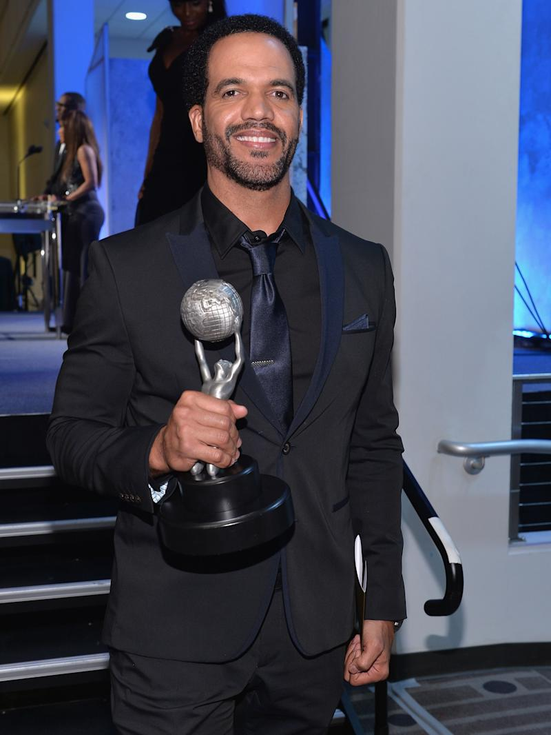 Kristoff St. John, at the NAACP Awards Non-Televised Awards Ceremony in 2014, is being remembered on social media following his death.