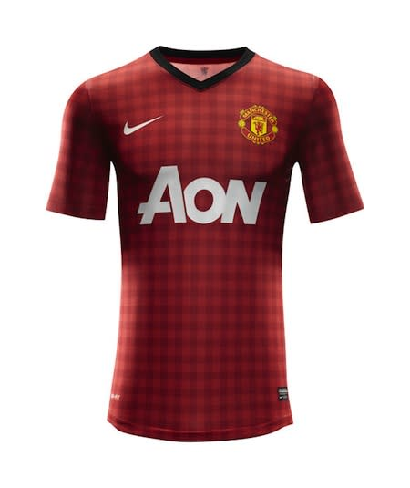 b96cf2149c6 Manchester United unveil new  tablecloth  home kit