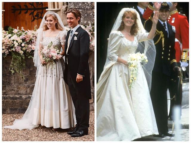 Princess Beatrice S Wedding Dress Was Inspired By Her Mum Sarah