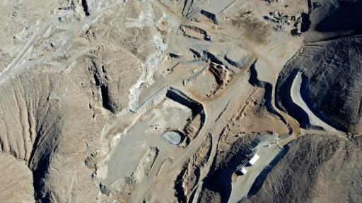 A view of the San Jose mine in Chile, where 33 miners were trapped underground for more than two months in 2010