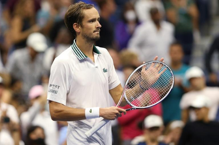 Russian second seed Daniil Medvedev says tennis governing bodies, not players, should decide if Covid-19 vaccines should be mandatory for players (AFP/MATTHEW STOCKMAN)
