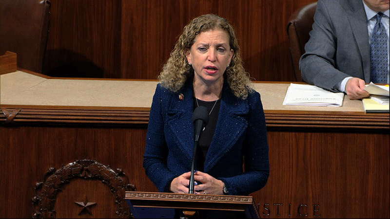Rep. Debbie Wasserman Schultz, D-Fla., speaks as the House of Representatives debates the articles of impeachment against President Donald Trump at the Capitol in Washington, Wednesday, Dec. 18, 2019. (Photo: House Television via AP)