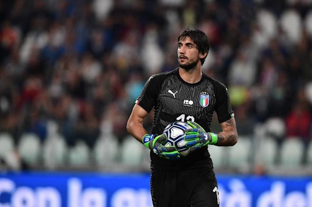 Mattia Perin is an Italy international but his career has been disrupted by knee injuries (AFP Photo/MIGUEL MEDINA)