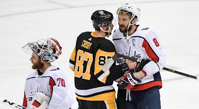 For Alex Ovechkin, this handshake line was unlike the others. (Getty)