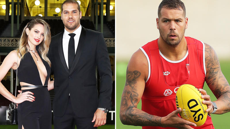 Jesinta and Buddy Franklin, pictured here at the Brownlow Medal in 2016.