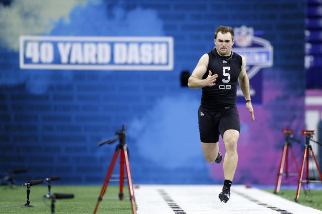 Georgia QB Jake Fromm's slow 40-yard dash was only a small part the problem at the NFL scouting combine. (Photo by Joe Robbins/Getty Images)