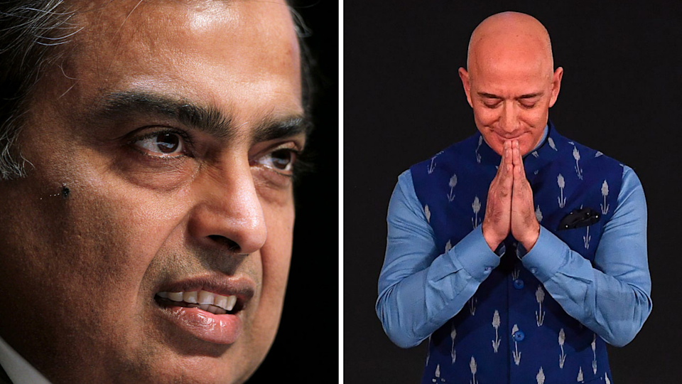 Amazon vs Reliance Industries: The battle for India. Source: Getty