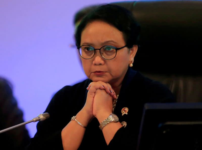 FILE PHOTO: Indonesian Foreign Minister Marsudi attends the ASEAN-New Zealand ministerial meeting in Pasay city