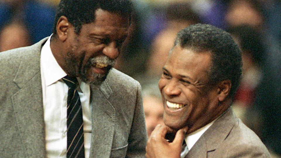 The basketball world is paying its respects to Boston Celtics legend and Hall of Famer, KC Jones, pictured on the right. Pic: AAP