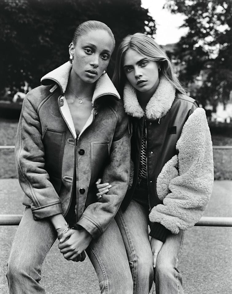 Adwoa Aboah and Cara Delevingne photographed by Alasdair McLellan for W Magazine, October 2014.